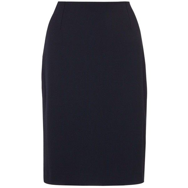 Jigsaw Paris Fit Wool Blend Skirt ($135) ❤ liked on Polyvore featuring skirts, navy, mini skirt, navy blue skirt, navy knee length skirt, navy pencil skirt and maxi pencil skirt