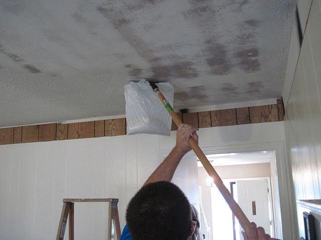 removing popcorn ceiling : Project Freshen Up : Pinterest