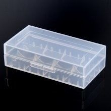 Transparent Electronic Cigarette Battery Storage Box for 18650 18350 18500 Battery