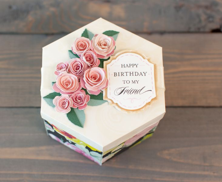 Anna Griffin Rose Box And Topper Cricut Explore