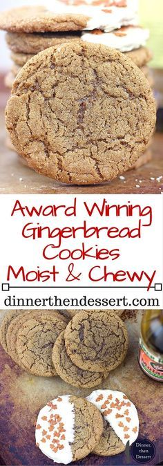 These Gingerbread Cookies will get you feeling festive and make your Christmas Cookie Exchange clamor for the recipe! Given to me by a family friend, they have won three cookie competitions in less than 10 years!