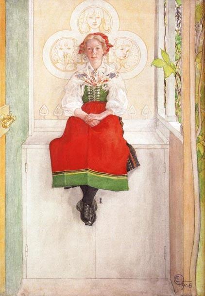 Lisbeth in her Sundborn Dress - Carl Larsson