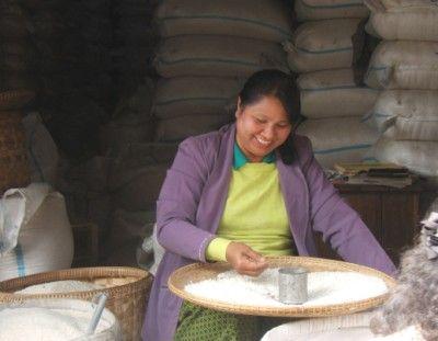rice for sale in Paung Phu Phet, North Myanmar