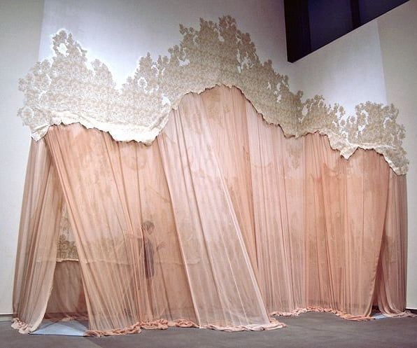 Curtain Call Xk Carlietrosclair Fabric Installation Scenic Design Exhibition Design