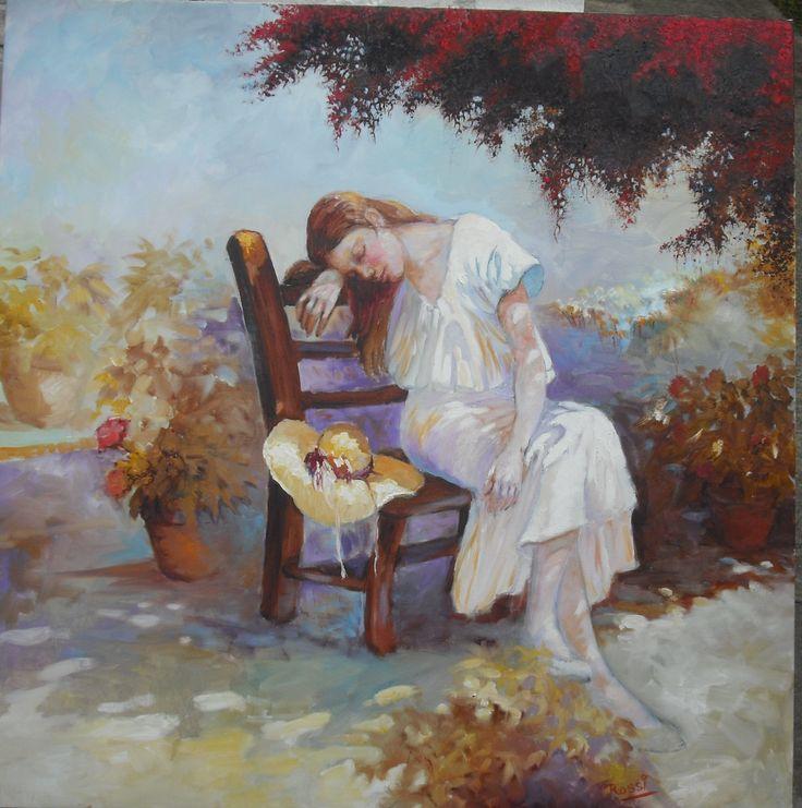 Siesta en el jardín ,,por Hugo Rossi