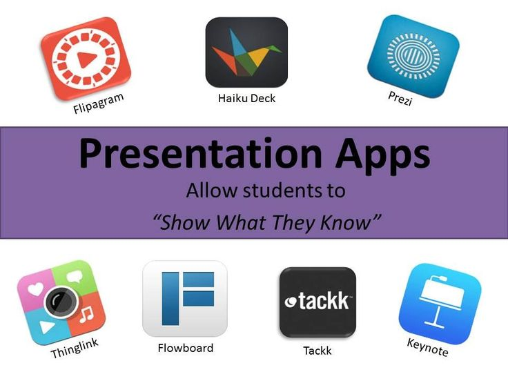 Presentation Apps Tackk with handouts and examples: https://tackk.com/presentationapps