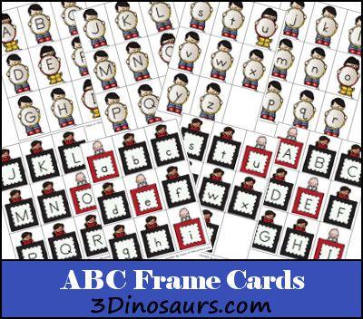 Free Printable ABC Frame Cards