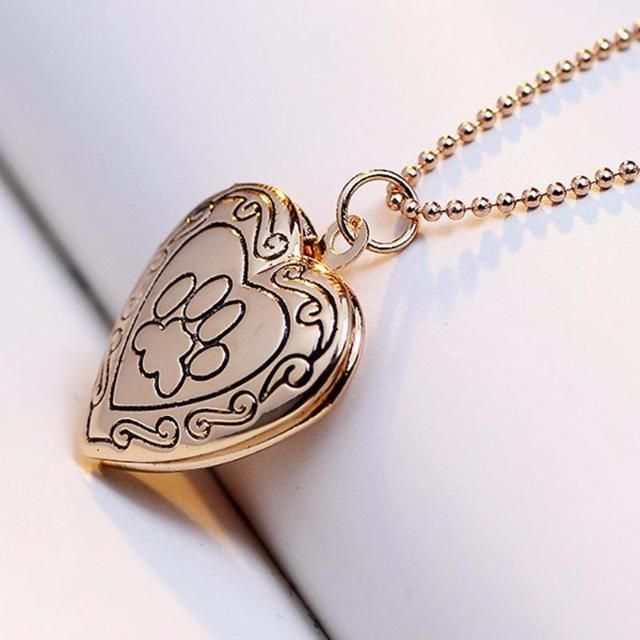 Locket Cat Paw Necklace - Available in 2 Colors locket necklace | locket necklace vintage | locket necklace personalized | locket necklace heart | locket necklace outfit | Locket Necklaces | Locket necklace | Locket Necklace |