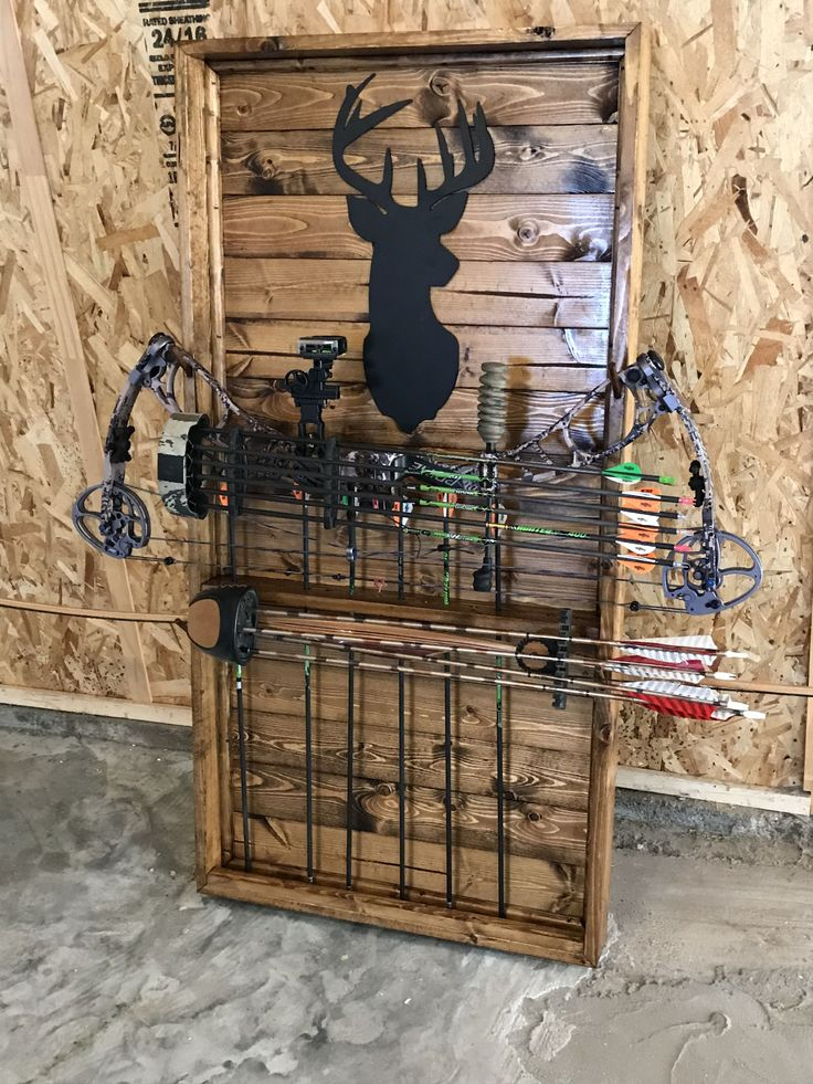 Bow rack made out of 1x4 #BowHunting