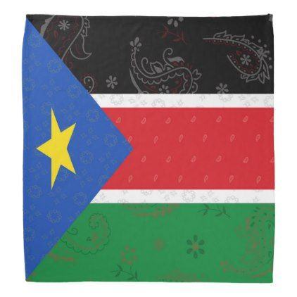 South Sudan Flag Bandana - accessories accessory gift idea stylish unique custom