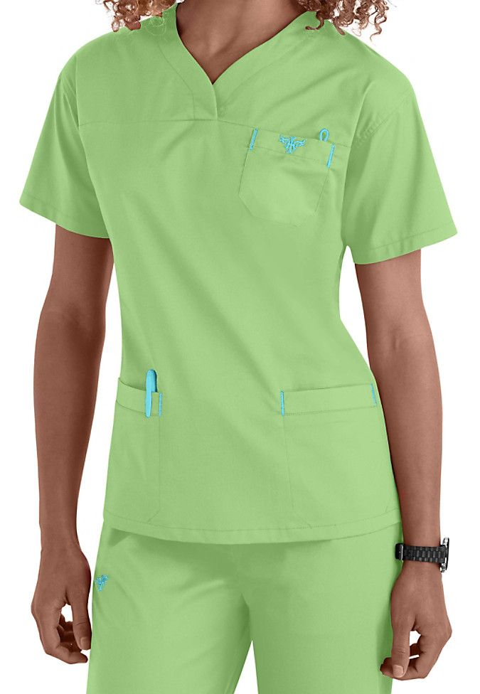 The Med Couture EZ Flex crossover v-neck top (in Paradise) features awesome STRETCH fabric that gives you a superior fit plus ease of movement throughout your day!