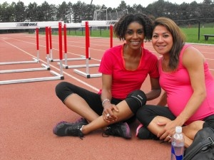 Priscilla Lopes-Schliep (who is 8 months pregnant in this photo) gave birth to a baby girl is now training for the 2012 Olympics. Great role model for moms and moms-to-be!