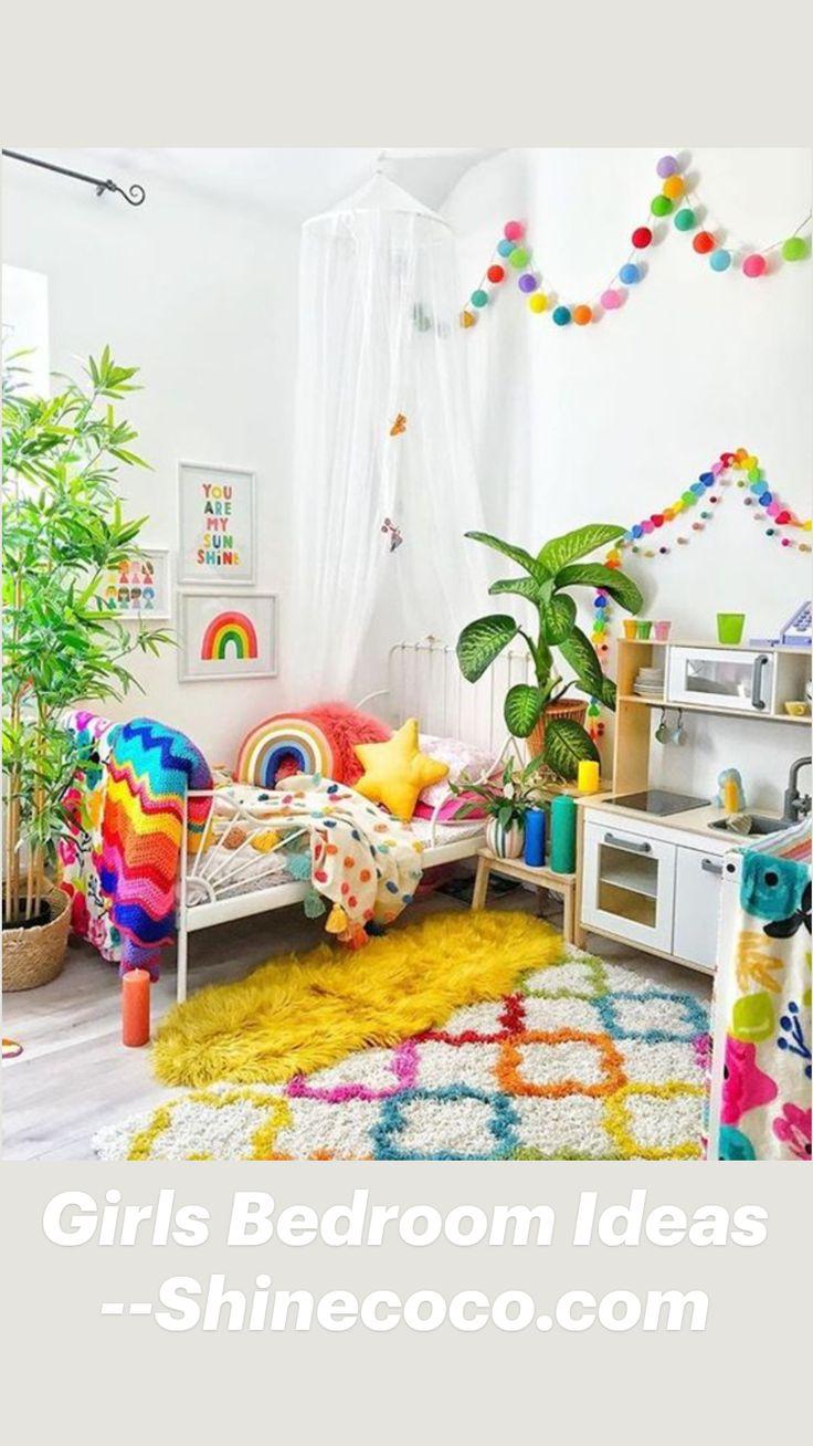 Kids Bedroom Designs, Kids Room Design, Rainbow Bedroom, Rainbow Room Kids, Rainbow Nursery, Bright Nursery, Rainbow House, Rainbow Wall, Toddler Rooms