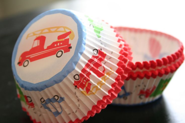 Truck Cupcake Liners | Firetruck Cupcake Cups (Michaels Crafts) | Fire Truck Birthday Party