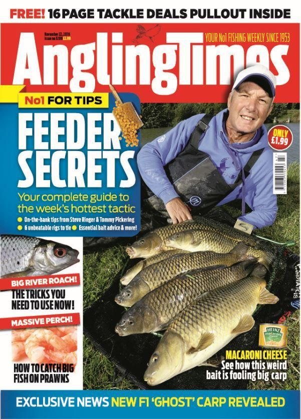 In this issue:    FREE! 16-page tackle deals pullout inside.    No 1 for tips! Feeder Secrets - Your complete guide to the week's hottest tactic:  <ul>   <li>On-the-bank tips from Steve Ringer and Tommy Pickering</li>   <li>6 unbeatable rigs to tie</li>   <li>Essential bait advice and more!</li>  </ul>  Big river roach! - the tricks you need to use now!    Massive perch! - how to catch big fish on prawns    Macaroni cheese - see how this weird bait is fooling big carp    EXCLUSIVE NEWS…