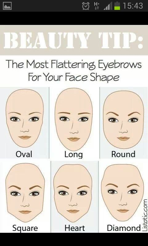 Perfect brow shape to suit your face shape