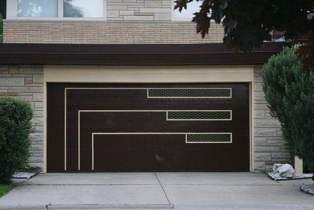 Midcentury Garage Door In 2020 Modern Garage Doors Garage Doors Modern Garage