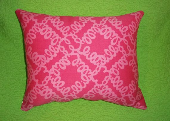 New Pillow made with Lilly Pulitzer Loopy Lilly, Lilly Pulitzer home, matching memo board, dorm room