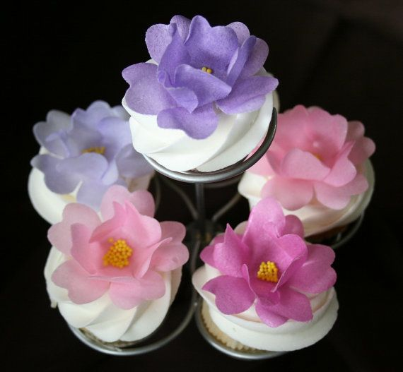 Edible Wild Roses Wafer Paper Flower   by SweetDejaVu on Etsy
