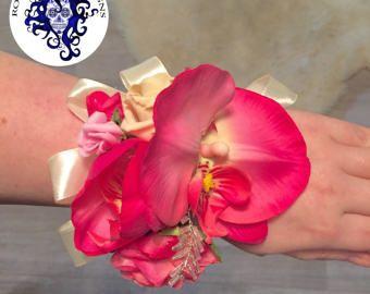 Impresionante ramillete de orquídeas rosa alternativos boda baile