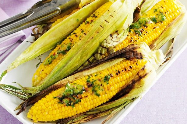 Barbecues are not just for meat - fire up the grill for this sensational corn cob side.