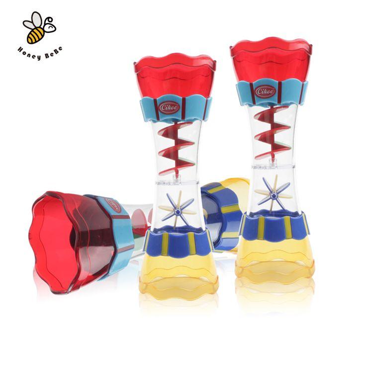 Bebé juguetes de baño niños play en la pala de agua playa de la piscina de agua cilindro giratorio de flujo observación taza del baño de los niños juguetes
