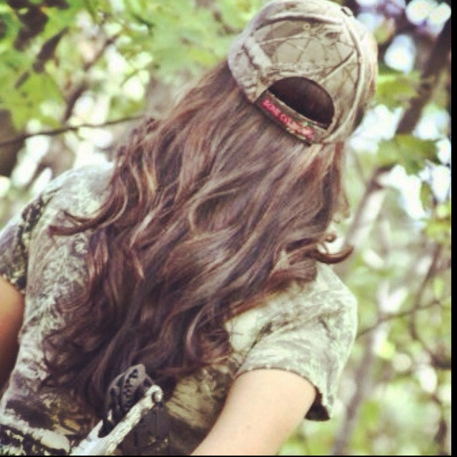 <3 memo to self - curl hair before hunting... Deer won't care but pictures will look nice!!