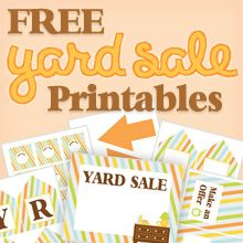 Printable Yard Sale Signs Free 11x17 inches -Link works