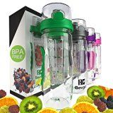 Bevgo Fruit Infuser Water Bottle - Large 1 Litre - Intergrated Timeline on All Bottle - Save Your Money and Hydrate the Healthy Way - Multiple Colors with Recipe Book Gift Included - https://www.trolleytrends.com/?p=380152