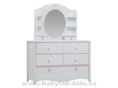 Dětská komoda, toaletní stolek Crown