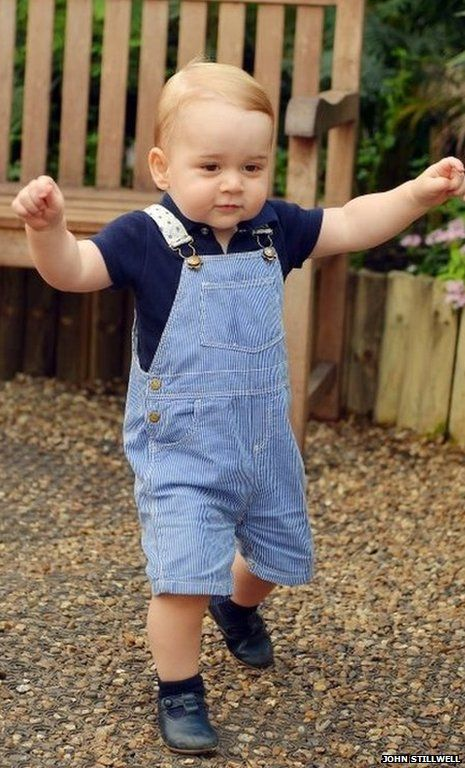 Official photo of Prince George released a few days before his first birthday. Look how much he's grown!