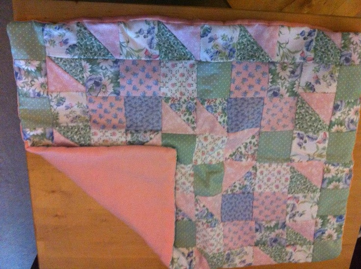 Handmade patchwork cotton cot quilt 59x78cm fully lined £25.00 including uk delivery  https://www.facebook.com/HomemadeBuntingAndNurseryBedding