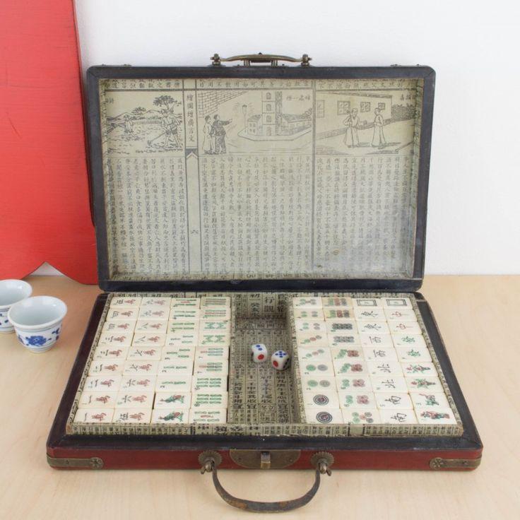 Antiguo juego chino Mahjong | Antic&Chic
