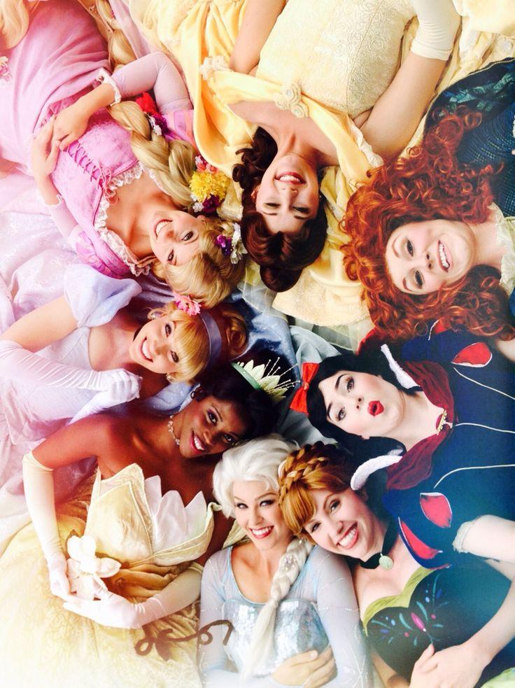 Festival of Fantasy Parade Princesses - Frozen Sisters, Queen Elsa & Anna, Snow White, Merida, Belle, Rapunzel, Cinderella, Tiana