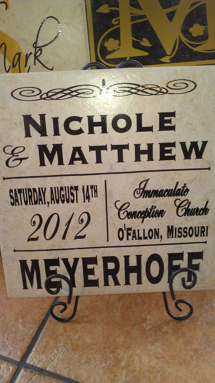 Personalized Wedding Tile Perfect Gift Www