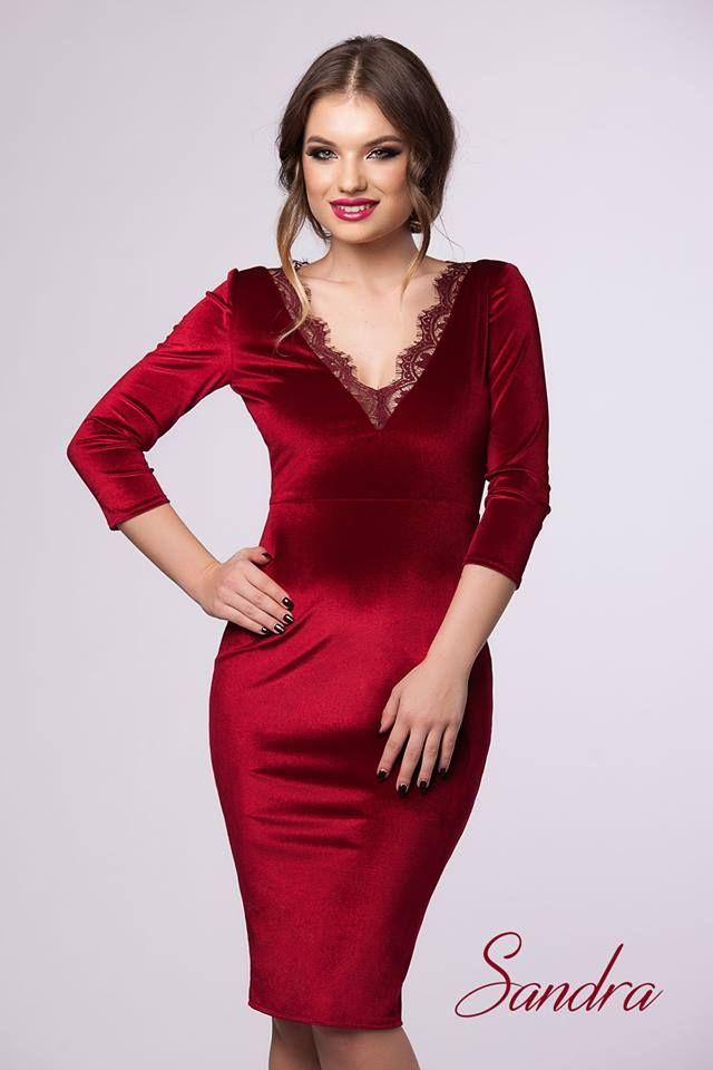 An elegant midi velvet dress in burgundy shades to beautify your wardrobe: https://missgrey.org/en/dresses/rochie-sandra-bordo/473?utm_campaign=noiembrie&utm_medium=rochie_sandra_bordo&utm_source=pinterest_produs