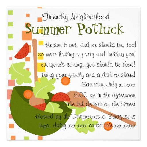 Top 25+ Best Potluck Invitation Ideas On Pinterest | Wedge Salad