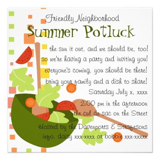 14 best Potluck Party! images on Pinterest u0027salemu0027s lot, Cook - family gathering invitation wording