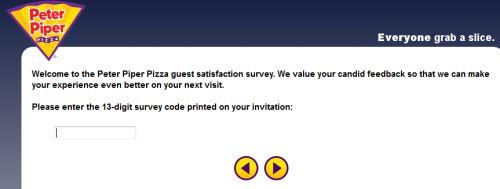Peter Piper Pizza Guest Satisfaction Survey, www.pppsurvey.com