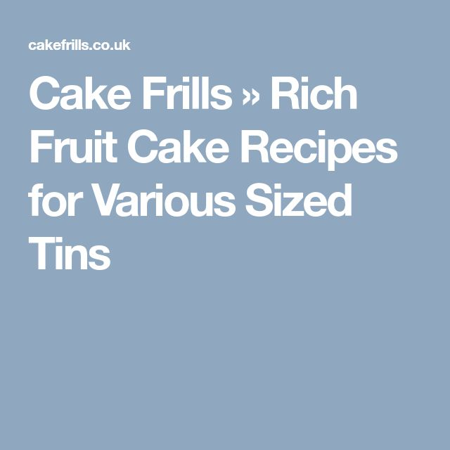Want a recipe for a basic fruit cake but in a different size cake tin.  This chart will give you the recipe you need.