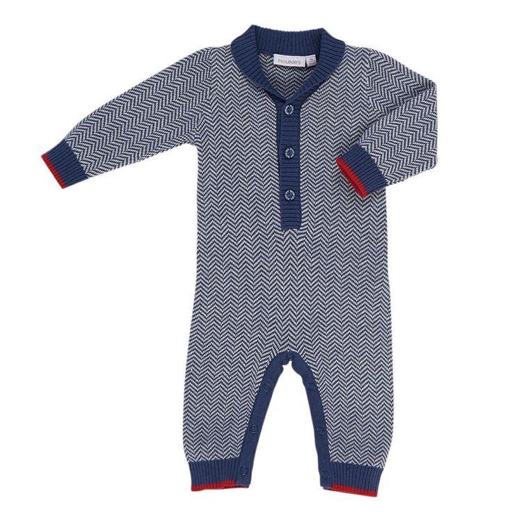 Blue Knit Jumpsuit Baby Boy