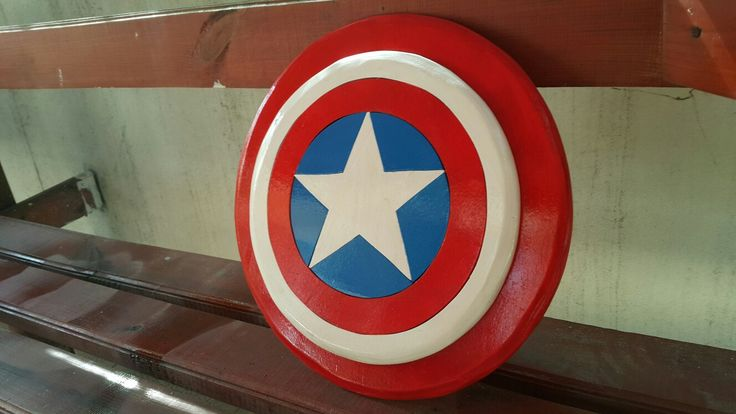 Wooden Captain America Shield.