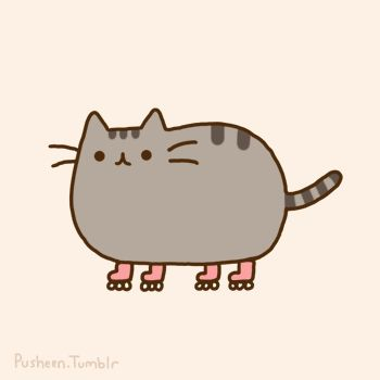 Pusheen Cat Patinando.