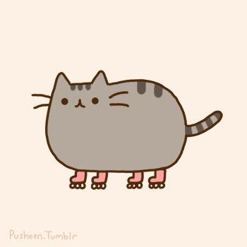 Pusheen Cat Patinando.