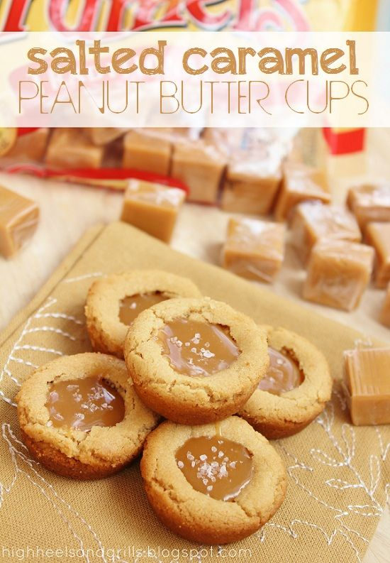 Salted Caramel Peanut Butter Cups. If you're a caramel lover like me, then this recipe is for you!