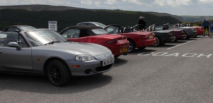 Mazda MX5 owners club.Ponderosa Café, Horseshoe Pass, Llangollen, North wales. 04-06-2017