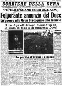 10 giugno 1940, l'Italia entra nella Seconda Guerra Mondiale   #TuscanyAgriturismoGiratola
