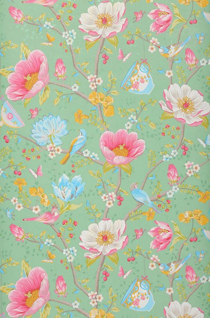 €57,90 Precio por rollo (por m2 €11,13), Papel pintado floral…                                                                                                                                                                                 Más