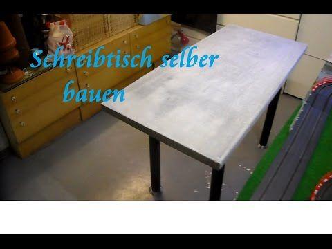 DIY Tisch aus Paletten und Beton selber bauen Beton Schreibtisch - Tisch bauen Anleitung - YouTube