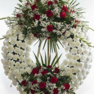 Tienda coronas flores para funerales, envios urgentes de coronas funeral, centros, ramos, palmas a todos los funerales de España. Seriedad y compromiso 100%